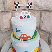 Cars bday cake