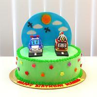 Robocar Poli Theme Cake