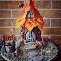 Autumn Fairy House Cake