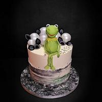 Cake with Kermit for the son