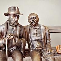 Monument to Pencho Slaveykov and Petko Slaveykov by FondanEli