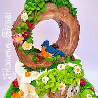 Spring buttercream cake by Filomena