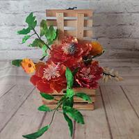 Happy Peonies box by Dr RB.Sudha