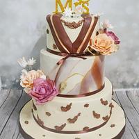 Luxury engagement cake