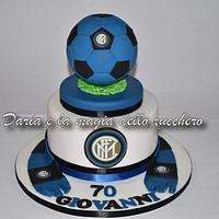 Inter soccer cake