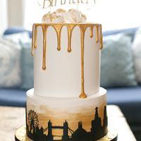 Skyline drip cake