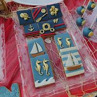 nautical theme cookies