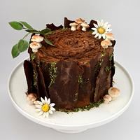 Tree Stump Cake by Juliana's Cake Laboratory
