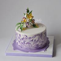 Birthday painted cake