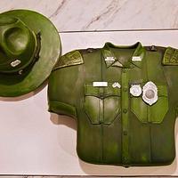 WV STATE POLICE THEMED BIRTHDAY CAKE /son