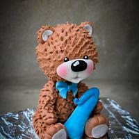 The bear for the first birthday  🐻 by Benny's cakes