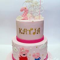 Peppa Pig Cake! 🐽