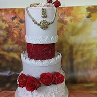 Indian Wedding Theme Cake