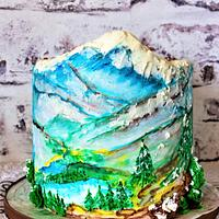 Painted Mountain Cake