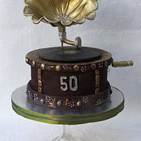 Chocolate retro gramophone