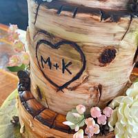 Woodsy Wedding by Kates Crazy Cakes