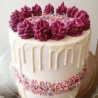 Drip sprinkle cake