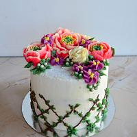 Cake with flowers