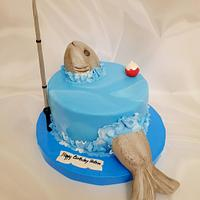 """Fishing Adventure Cake"""