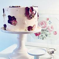 Palette Knife Birthday Cake