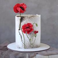 Poppy, wafer paper flowers