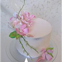 Flowes creame cake