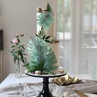 Monstera cake