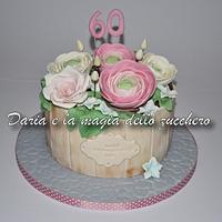 Flowers pot cake
