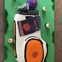 Clemson Golf Bag Grooms Cake