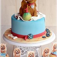 Little spaniel cake