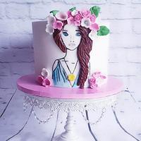 Birthday cake paint cake