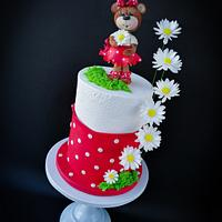 Cake with bear  by Mischell