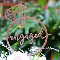 Engagement cake by Lulubelle's Bakes