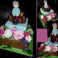Cake with grandma