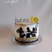 Laser game cake