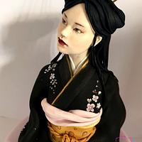 Japanese zen girl by Emma