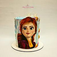 Painting cake Anna Frozen by Marisa Morelli Monfort