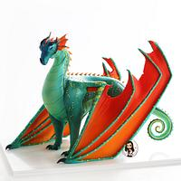 'Wings of fire' dragon cake by Inspired Cakes - by Amy
