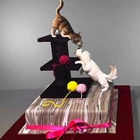 Cat and Dog Cake by Serdar Yener   Yeners Way - Cake Art Tutorials