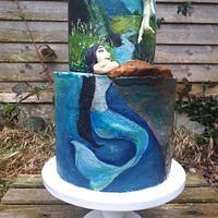 Hand painted fantasy cake