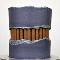 Chocolate Finger Fault Line Cake