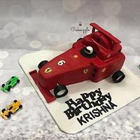 F1 Ferrari Cake