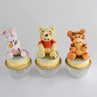 Winnie the Pooh and Friends Cupcakes