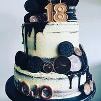 Oreo & PB Birthday Cake by Sugar by Rachel