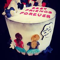Best friends cake
