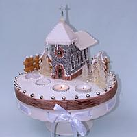 Church made of honey cookies
