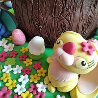 Easter  bunnies' cake