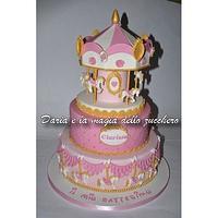 Carousel horse cake for girl