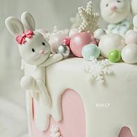 Christmas Bunny Birthday Cake