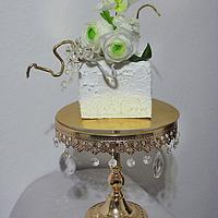 Cake with flowers of edible paper II
